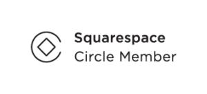 Squarespace Circle Member Logo - White