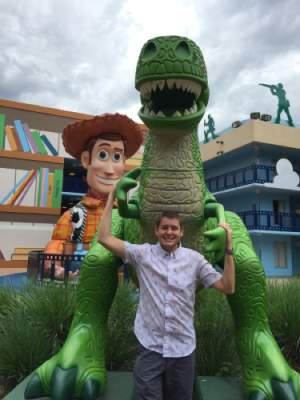 Ken Westphal at Disney Toy Story Area